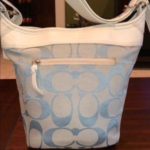 COACH SIGNATURE C SHOULDER BAG SLATE/WHITE
